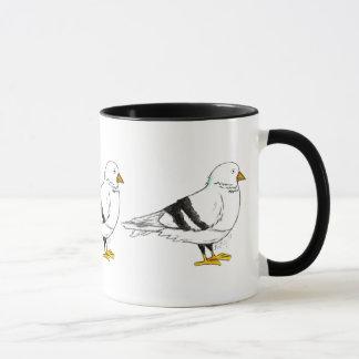 Caneca Pássaro do pombo da Nova Iorque NYC
