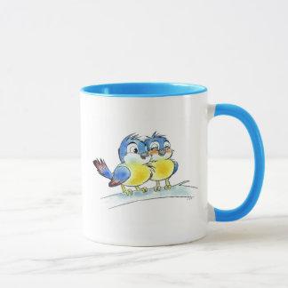 Caneca Pássaros azuis