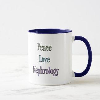 Caneca Paz, amor, nefrologia