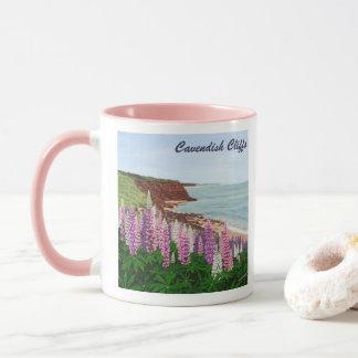 Caneca Penhascos de Cavendish e Lupins do primavera, PEI