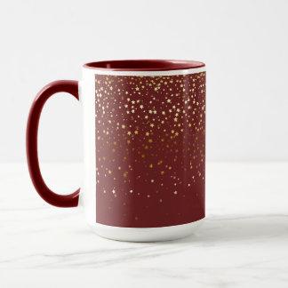 Caneca Pequeno café dourado Caneca-Borgonha do Dois-Tom