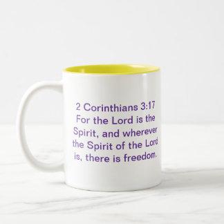 Caneca personalizada 3:17 de 2 Corinthians
