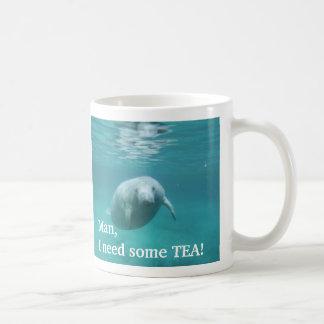 Caneca personalizada canhota do chá do peixe-boi