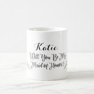 Caneca personalizada da madrinha de casamento