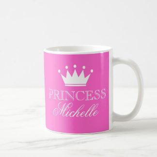 Caneca personalizada da princesa no rosa com nome