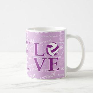 Caneca personalizada do café do netball do amor