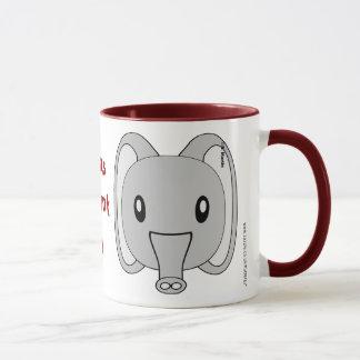 Caneca personalizada do elefante