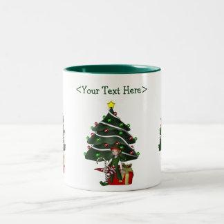 Caneca personalizada do feriado da árvore de Natal