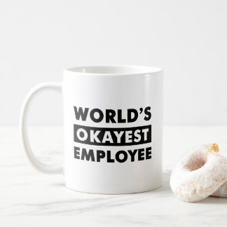 Caneca personalizada empregado do Okayest do mundo