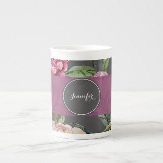 Caneca personalizada floral boémia de China de