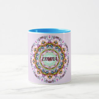 Caneca ~ personalizado ~ do Fractal de EMMA Paua Shell