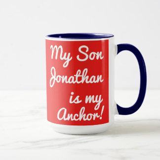 """Caneca Personalize """"meu filho que Jonathan é minha"""