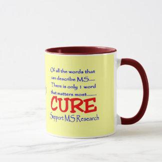 Caneca Pesquisa do MS do apoio do ~ da esclerose múltipla