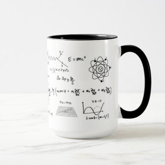 Caneca Physics formulas and diagrams Coffe Mug