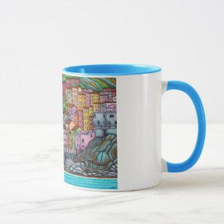 Caneca Pintura bonita, colorida, estilizado de Manarol