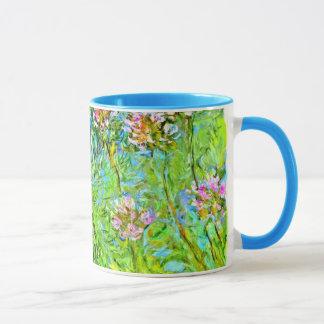 Caneca Pintura floral de Monet: Flores do Agapanthus