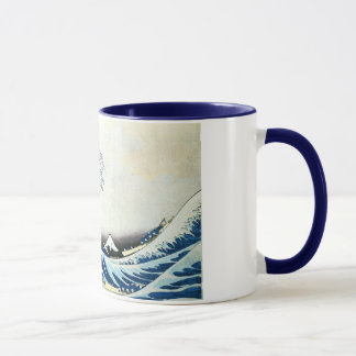"""Caneca """"Pintura japonesa da grande onda"""" por Hokusai"""