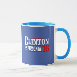 Caneca Pneumonia 2016 de Clinton -- Eleição 2016 --