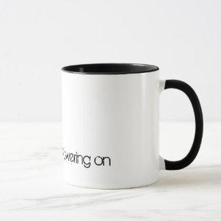 Caneca Poder sobre com sua chávena de café