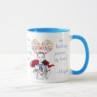 Caneca Poderes curas do amor - Megan o herói