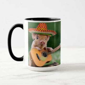 Caneca porco mexicano - guitarra do porco - porco