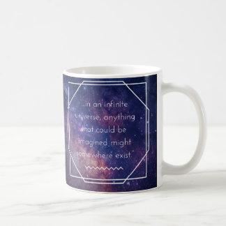 Caneca positiva da afirmação do universo infinito