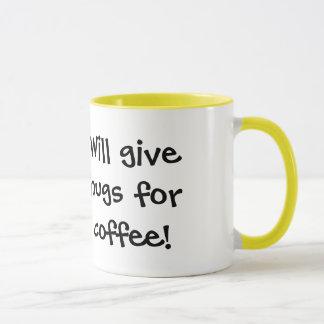 Caneca Pouco Ducky: Dará abraços para o café!