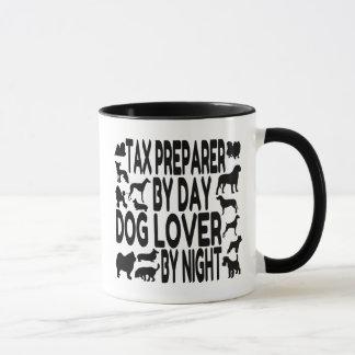 Caneca Preparador de imposto do amante do cão
