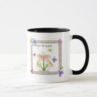 Caneca Presentes do dia das mães da flor de borboleta da