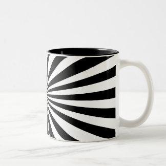 Caneca preta & branca do dois-tom - zebra