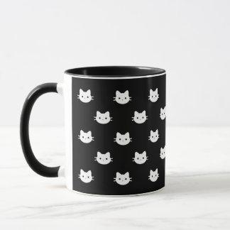 Caneca preta & branca do gato