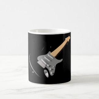Caneca preta da guitarra elétrica