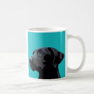 Caneca preta de Labrador