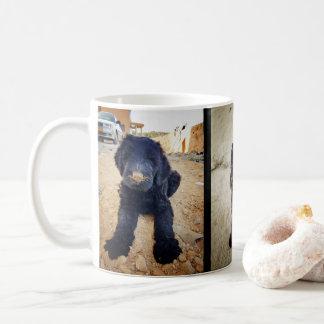 Caneca preta de Terrier do russo