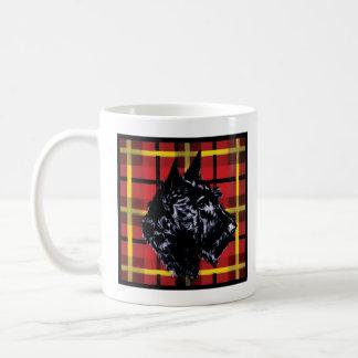 Caneca De Café Caneca preta de Terrier do Scottish