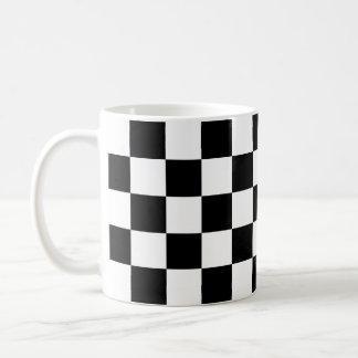Caneca preta do design do azulejo