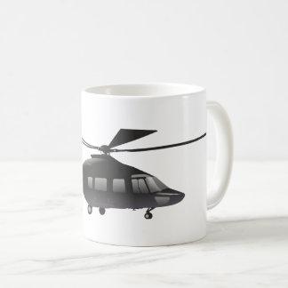 Caneca preta do helicóptero