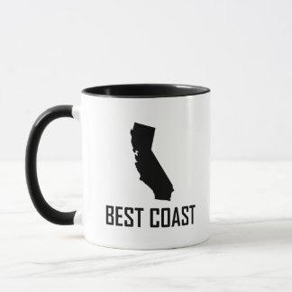Caneca Preto de Califórnia da costa oeste o melhor