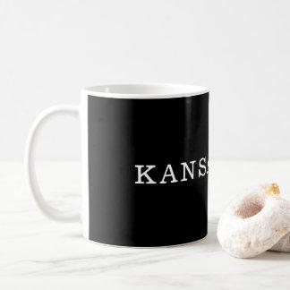 Caneca preto e branco de Kansas City
