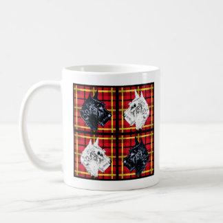 Caneca De Café Caneca preto e branco de Terrier do Scottish