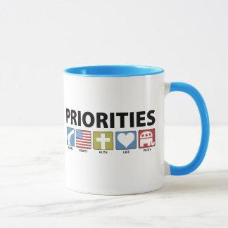 Caneca Prioridades do GOP