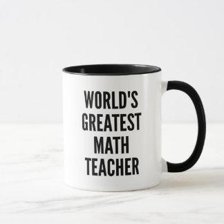 Caneca Professor de matemática dos mundos o grande