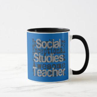 Caneca Professor dos estudos sociais Extraordinaire