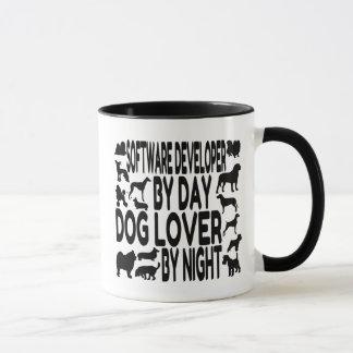 Caneca Programador de software do amante do cão
