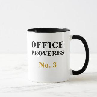 Caneca Provérbio número 3 do escritório - previsões