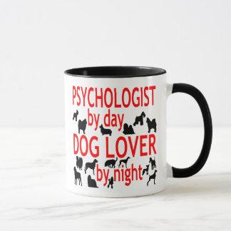 Caneca Psicólogo do amante do cão no vermelho
