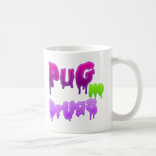 caneca pug no drugs grime