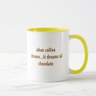 Caneca quando o café sonha… sonha do chocolate