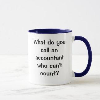 Caneca Que você chama um contador…? Uma piada do forro