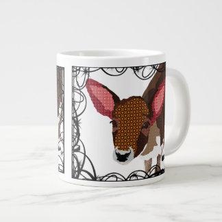 Caneca querida dos cervos do vintage caneca de café muito grande